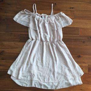 Dusty Rose Cold Shoulder Mini Dress